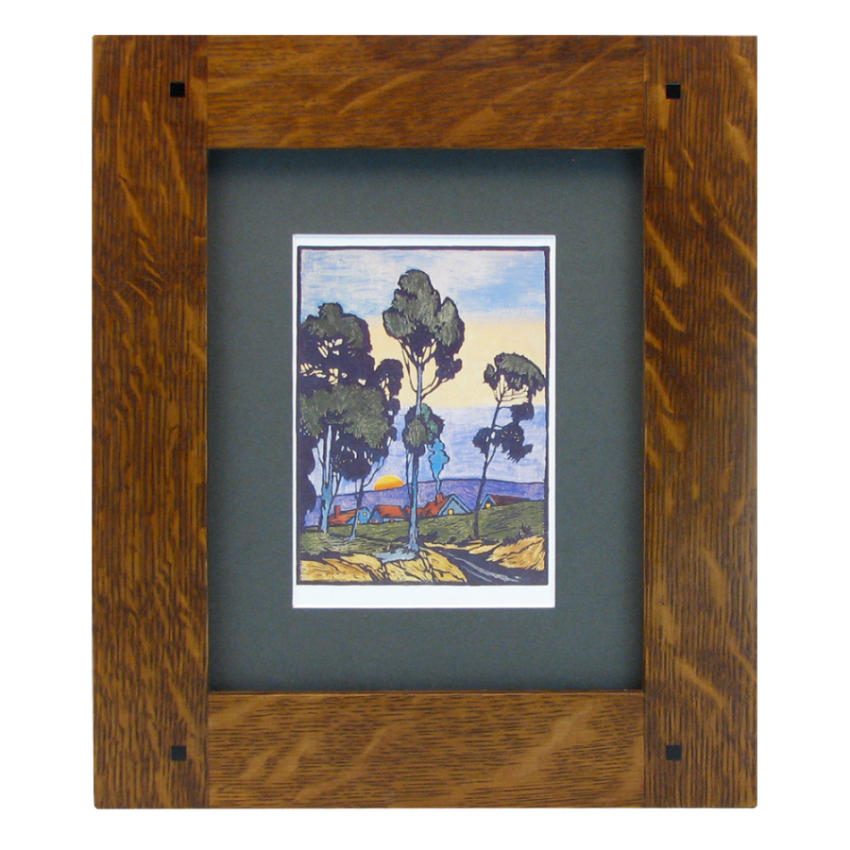 Handcrafted Mission Frame With Recessed Rails - Solid Wood Frames