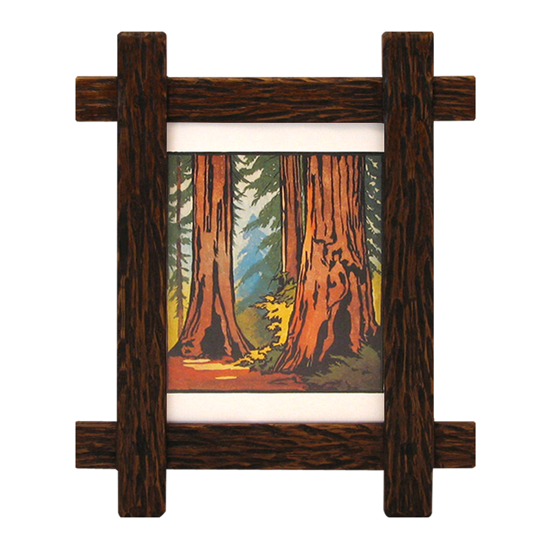 Carved Narrow Lap-Joined Picture Frame - LJ2332 - Solid Wood Frames
