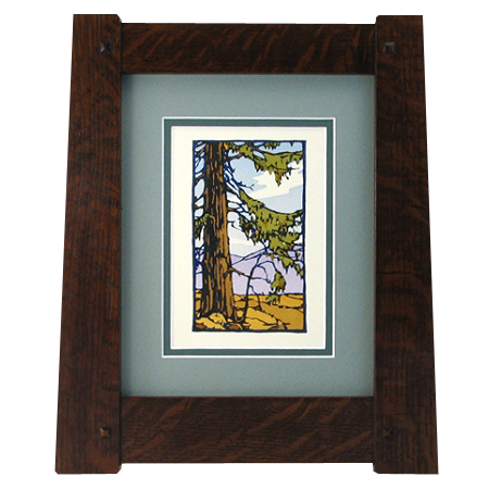 Craftsman Style Frame With Thick Rails 2027 Solid Wood Frames