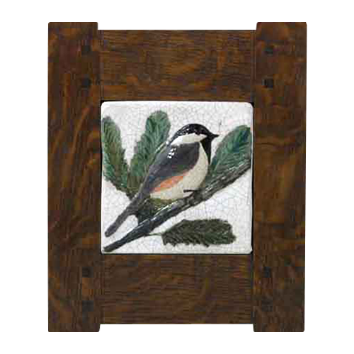 Classic Mission with Bird Tile 3305 - Solid Wood Frames