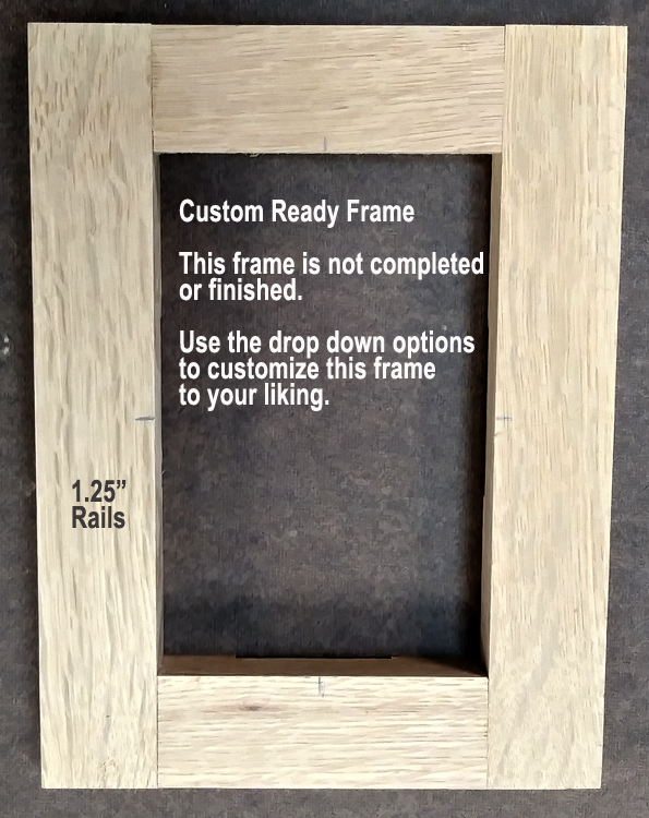 4401380606 Craig Frames Wiltshire 440 6x6 Inch Mission Oak Stained Solid Wood Picture Frame